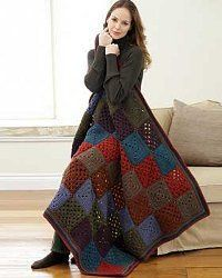 check out this collection of 5 Easy Granny Square Afghan Patterns to make today. There are various patterns to choose from and skill levels range from beginner to intermediate.