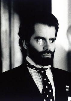 Karl Lagerfeld by Helmut Newton, mid 80s