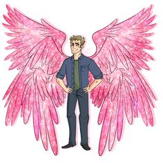 "jathel: ""  ""Lucifer's wings are hot pink and sparkly because he doesn't give a fuck."" -Mark Pellegrino """