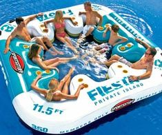 Have a killer party on the water with this giant inflatable lounger. Capable of fitting up to eight party animals comfortably afloat this massive floating lounger decked out with cup holders and supportive seats, you'll never want to leave the water again. Buy It $399.99 via Amazon.com