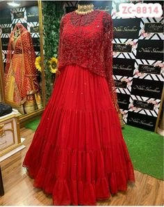 Order #ZC8814 Georget with Embroidery work with Koti₹2070 on WhatsApp number +919619659727 or ArtistryC.in Heavy Dresses, Prom Dresses, Formal Dresses, Elegant Woman, Women Wear, Comfy, Gowns, Clothes For Women, Stylish