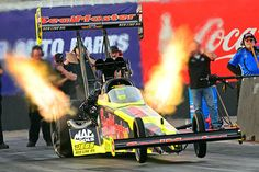 Top Fuel, Don Schumacher Racing driver Antron Brown led the stat sheet with a blistering 3.701 at 323 mph in the Matco Tools dragster.
