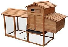 Merax 80 Wooden Chicken Coop House Cage For Small Animals Hen Coop Nesting Box $290 ebay