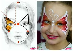 Simple face painting designs are not hard. Many people think that in order to have a great face painting creation, they have to use complex designs, rather then simple face painting designs. Face Painting Tips, Girl Face Painting, Face Painting Tutorials, Belly Painting, Face Painting Designs, Paint Designs, Face Paintings, Face Painting Stencils, Tole Painting