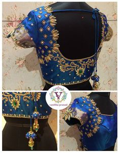 Saravana Street T. coontact : 098412 23 May 2016 Wedding Saree Blouse Designs, Pattu Saree Blouse Designs, Saree Blouse Patterns, Saree Blouse Neck Designs, Maggam Work Designs, Blouse Models, Hand Embroidery Designs, Embroidery Patterns, Sarees