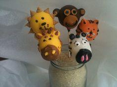 http://www.babyshowerinfo.com/ideas/safari-theme-baby-shower/ Safari/Jungle theme baby shower Cake Pops