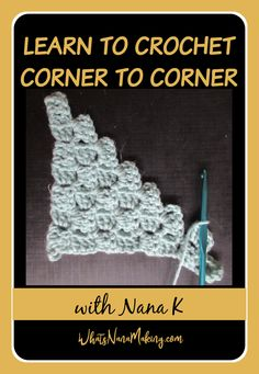 Want to learn to crochet? Each month, learn how to crochet three different blocks. This month we learn to crochet C2c Crochet, Basic Crochet Stitches, Learn To Crochet, Half Double Crochet, Single Crochet, Corner To Corner Crochet, Popcorn Stitch, Linen Stitch, Easy Stitch
