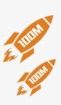 Orange rocket flow PNG and Clipart