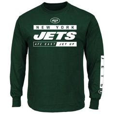 Majestic New York Jets Green Primary Receiver VII Long Sleeve T-Shirt