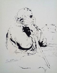 Autore: Teo Pinnetti Disegno a china - Leonardo Da Vinci