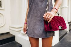Velvet Chanel Boy Bag