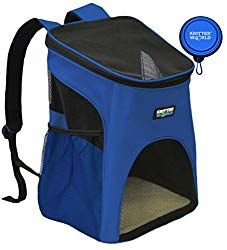 ... Pet Carrier Backpack for Small Dogs, Puppies, Cats, Kittens Up to 7lbs,  Free Collapsible Dog Bowl Included, Comfort Mesh Pup Pack Great for A Walk,  ... d564edb63c