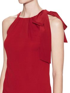 Crepe Bow Neck Blouse by Gucci at Gilt