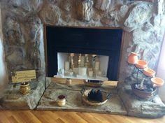 Love my rock fireplace .