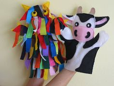 Hand Puppets!  Homemade Gifts For Kids