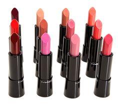 MAC Mineralize Rich Lipsticks - Super pigmented, seem really creamy, the colors are GORGEOUS Face Paint Makeup, Mac Makeup, Makeup Blog, Love Makeup, Beauty Makeup, Makeup Looks, Makeup Stuff, Beauty Secrets, Beauty Hacks