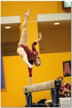 University of Minnesota women's gymnastics Dusti Russell college gymnast balance beam #KyFun