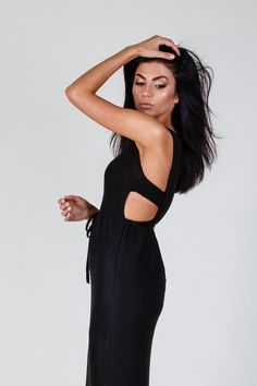 23e8f6bbae93 NEW Black Long Maxi Dress Summer Spring Unique by LenaFelice Unique Dresses