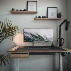 Home Office Setup, Home Office Space, Home Office Desks, Computer Desk Setup, Gaming Room Setup, Pc Desk, Pc Setup, Home Studio Desk, Dream Desk