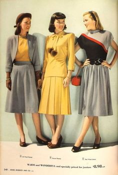 From the Spring and Fall 1947 Sears Catalogs