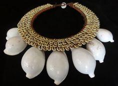 Necklace Catwalk New York Milan Fashion Jewelry Shell Adornment Tribal Art Chic #savageharvest