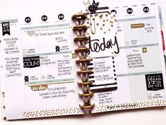 'Making It Happen' in black, gold, and green by mambi Design Team member April Orr in her Create 365™ Happy Planner™ | me & my BIG ideas