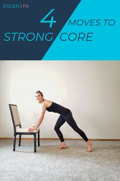 4 Moves to Strong Core Increase your core strength with this simple workout. 4 exercises in different variations make it a fun and challenging core workout routine. If you're looking for a challenge, repeat. Exercice Step, Easy Workouts, At Home Workouts, Core Workout Routine, Core Strength Workout, Exercise Routines, Strength Training, Pilates Training, Pilates Barre