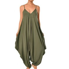 Amazon.com: May&Maya Women's V Neckline All In One Beach Jumpsuit: Clothing