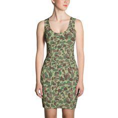 Women's American Marine WWII Jungle CAMO Dress