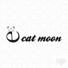 Modern Unique Logo Cat Moon - #logo #brand #sale #cat #moon #abstract #unique