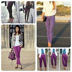 Lila Mejores Jean 26 De Pants Imágenes Pantalones Colored Outfits aIwqwHOx