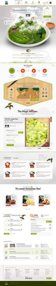 My Dilmah (Revamp) by  Yashi | #webdesign #it #web #design #layout #userinterface #website #webdesign < repinned by www.BlickeDeeler.de | Take a look at www.WebsiteDesign-Hamburg.de