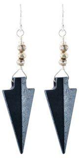 Hematite & Pyrite Arrow Earrings