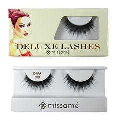 Missamé Diva Deluxe Beauty False Eyelashes Set Handmade with Premium Synthetic Fibers, Black, 1 Pair Best False Eyelashes, Longer Eyelashes, Eyelash Curler, Eyelash Extensions, Wax Bath, Eyelash Sets, House Of Lashes, Flirting, Mascara