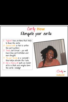 How to elongate your natural curls