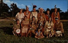 Chrome Postcard Members of the Wampanoag Tribe of Gay Head and Mashpee Indians Massachusetts