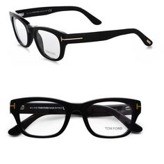 Tom Ford Eyewear Thick Square Eyeglasses/Black found on Polyvore