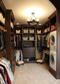 Washer and Dryer in the Closet - How  convenient!