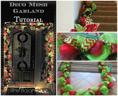 DIY Deco Mesh Garland Tutorial DIY Christmas Garland