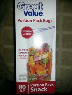 Portion Control Snack Bags These Can Be Found At Wal Mart Etc Good To Know Pinterest Еда торты And и напитки
