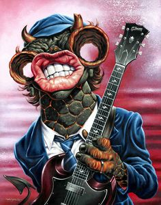 Angus Young by Jason Edminston