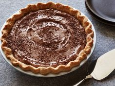 Bobby's Lighter Frozen Chocolate Mousse Pie from CookingChannelTV.com