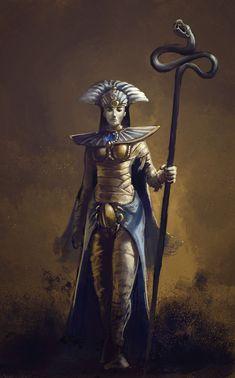 Queen Khalida by Theclockworkpainter.deviantart.com on @DeviantArt