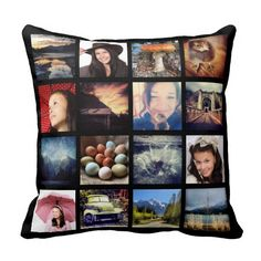 Create your Own Custom 16 Instagram Photo Collage Pillow