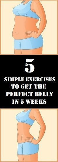 In this article we are going to recommend you five simple exercises which will help you lose your belly fat and get a perfect body.