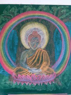 Drawing of Sidhartha, Buddha from Ancient India Main Lesson at Gaia Waldorf school. Teacher: Miss Vienie