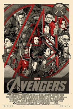 The Avengers (variant) by Tyler Stout #mondo