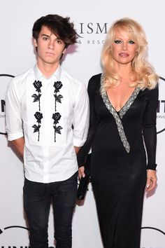 Pamela Anderson Stuns on the Red Carpet With Her Handsome Son, Dylan Lee