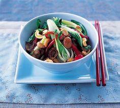 Stir-fry veg with cashews