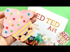 Easy Cupcake Bookmark Design - DIY Corner Bookmarks - Kawaii Paper Crafts DIYs - YouTube